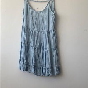 BRANDY MELVILLE BLUE FLOWY DRESS